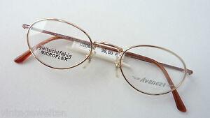 Freundlich Ovale Metallbrille Gold Kupfer Klein Fassung Stabil Brille Federbügel Grösse M Sonnenbrillen & Zubehör