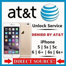 SEMI PREMIUM AT&T Factory Unlock Code Service iPhone 4 4S 5 5C 5S 6 6s 6s+ 7