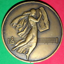 MUSIC / FRENCH COMPOSER AND TEACHER / VINCENT D´ INDY 1851-1931 / METAL MEDAL
