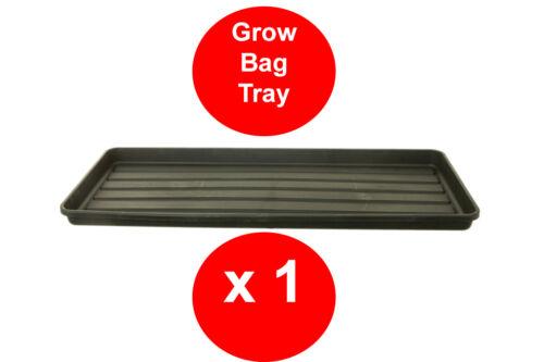 MULTIPACKS OF BLACK GROW BAG TRAY 1 METRE GARDEN TRAY RIGID TOUGH WATERING TRAY