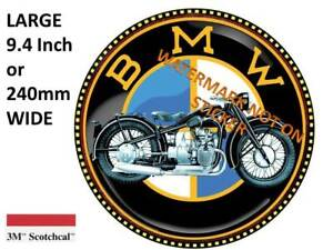 VINTAGE BMW MOTORCYCLE DECAL STICKER LARGE Inch Or Mm USA - Bmw motorcycle stickers decals