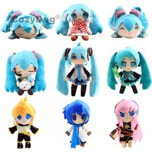 Hatsune-Miku-Plush-Toy-Kaito-Kagamine-Rin-Megurine-Luka-Soft-Stuffed-Doll-Figure