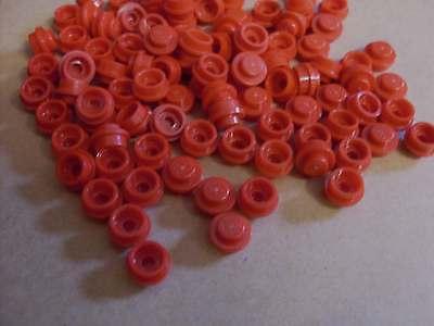 Lego 50 x 1er flach rund Rundplatte 1 x 1 orange Stein Einser Kleinteile Neu