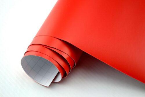 9,86€//m² Auto Folie ROT MATT 50 x 152 cm 3D Klebefolie Car Wrapping