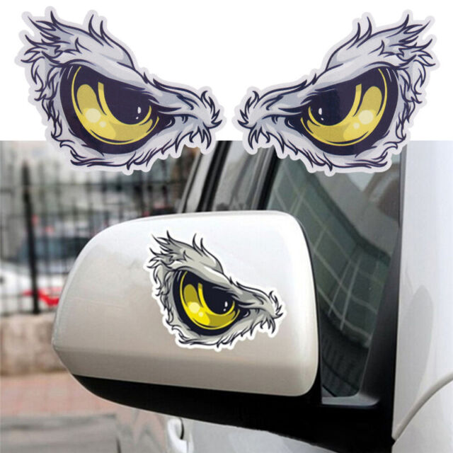 3D Cat Eyes Car Truck Mirror Stickers Window Decal Sticker Reflective Decals
