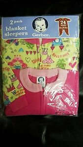 38274adec Gerber 2 Pack Little Girls Blanket Sleepers