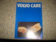 VOLVO 240 260 340 360 740 760 série-C1984 Volvo d'origine livret de service de soins