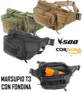 Marsupio T3 con supporto per arma fondina interna porta pistola occultamento SBB