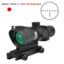 Terminus Optics 4×32 Chevron Reticle Red Fiber Rifle Scope