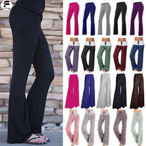 4f7a2597cd Image is loading Plus-size-Ladies-Loose-Floral-Yoga-Palazzo-Trousers-