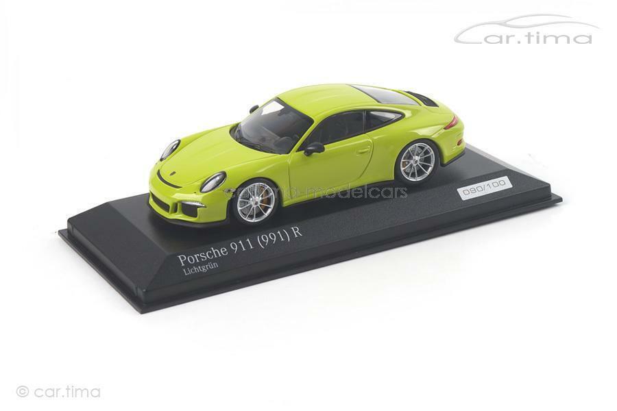 Porsche 911 (991) R - lichtgrün - 1 of 100 - Minichamps - 1 43 - CA04316094