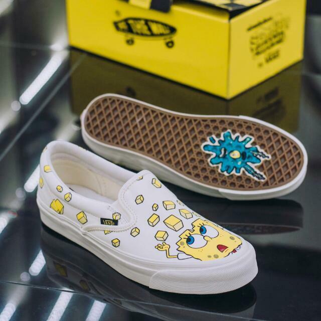 NIB Vans SpongeBob Limited Edition Vault Vault Vault SpongeBob Check SLIP ONS - Last Ones  120979