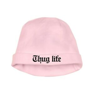 a1cd416b8 Details about CafePress Thug Life, Gangster, Baby, G, Thug, Baby Hat  (950972400)