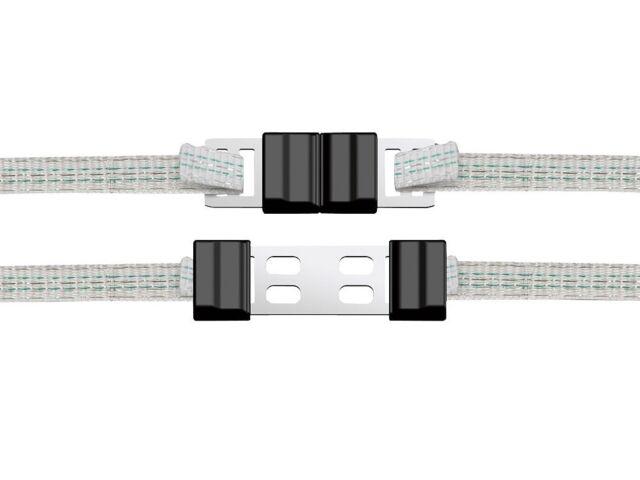 Litzclip Bandverbinder Zaunverbinder Breitbandverbinder Verzinkt Edelstahl