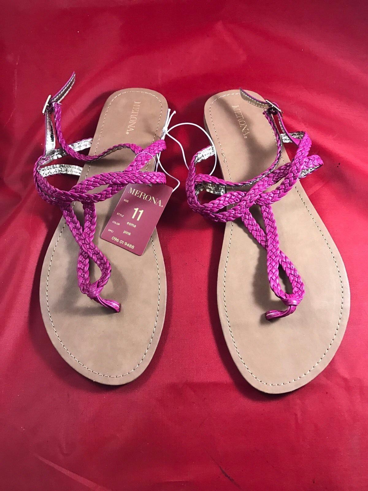 Merona Womens Esma Pink Sandals 11 Size 11 Sandals fb9036