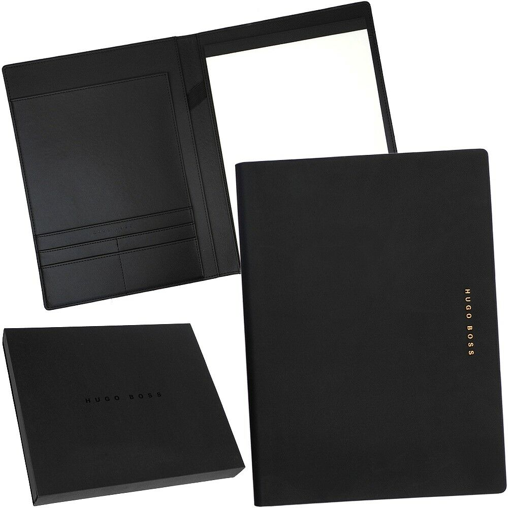 HUGO BOSS - A4 Schreibmappe Aktenmappe Konferenzmappe Dokumentenmappe Folder NEU | Sale Düsseldorf  | Verschiedene  | Trendy