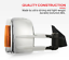 thumbnail 2 - Bettaview Extendable Towing Mirrors for Nissan Navara NP300 2015 To Current