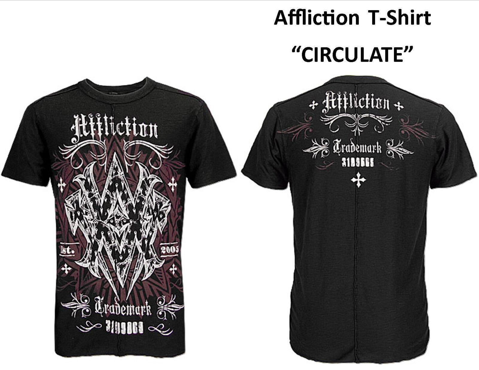 Affliction T-Shirt Short Sleeve  CIRCULATE  V-Neck 2XL