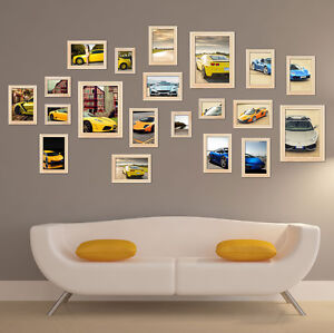 Photo Frame Set Wall Mounted Picture Display Modern Art 20pcs White