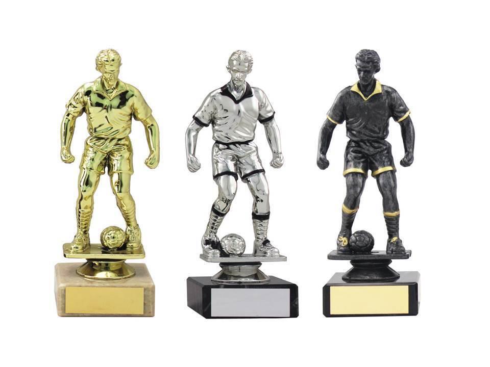 100 X trofeo de fútbol masculino, base de mármol, Colors, Grabado Gratis 160mm,3 (1364) MUP