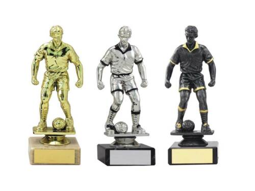 15 x Male Football Trophy,Marble Base,160mm,3 Colours,Free Engraving 1364 mup