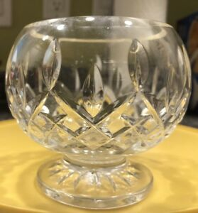 Waterford-Lismore-Open-Sugar-candy-Crystal-Bowl-Round-Footed