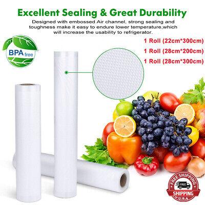 """200PCS 6.7 X10"""" Vacuum Sealer Storage Bags Foodsaver Embossed Style Sous Flat"""