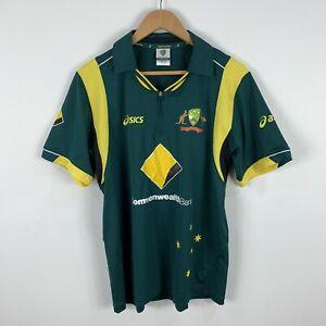 Australia-Cricket-Shirt-Jersey-Mens-Medium-Asics-Short-Sleeve-Polo