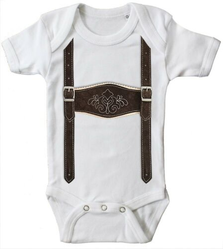 Oktoberfest Hosenträger Lederhose 12731 Baby Body Qualitäts Bodys 6-24 Mon