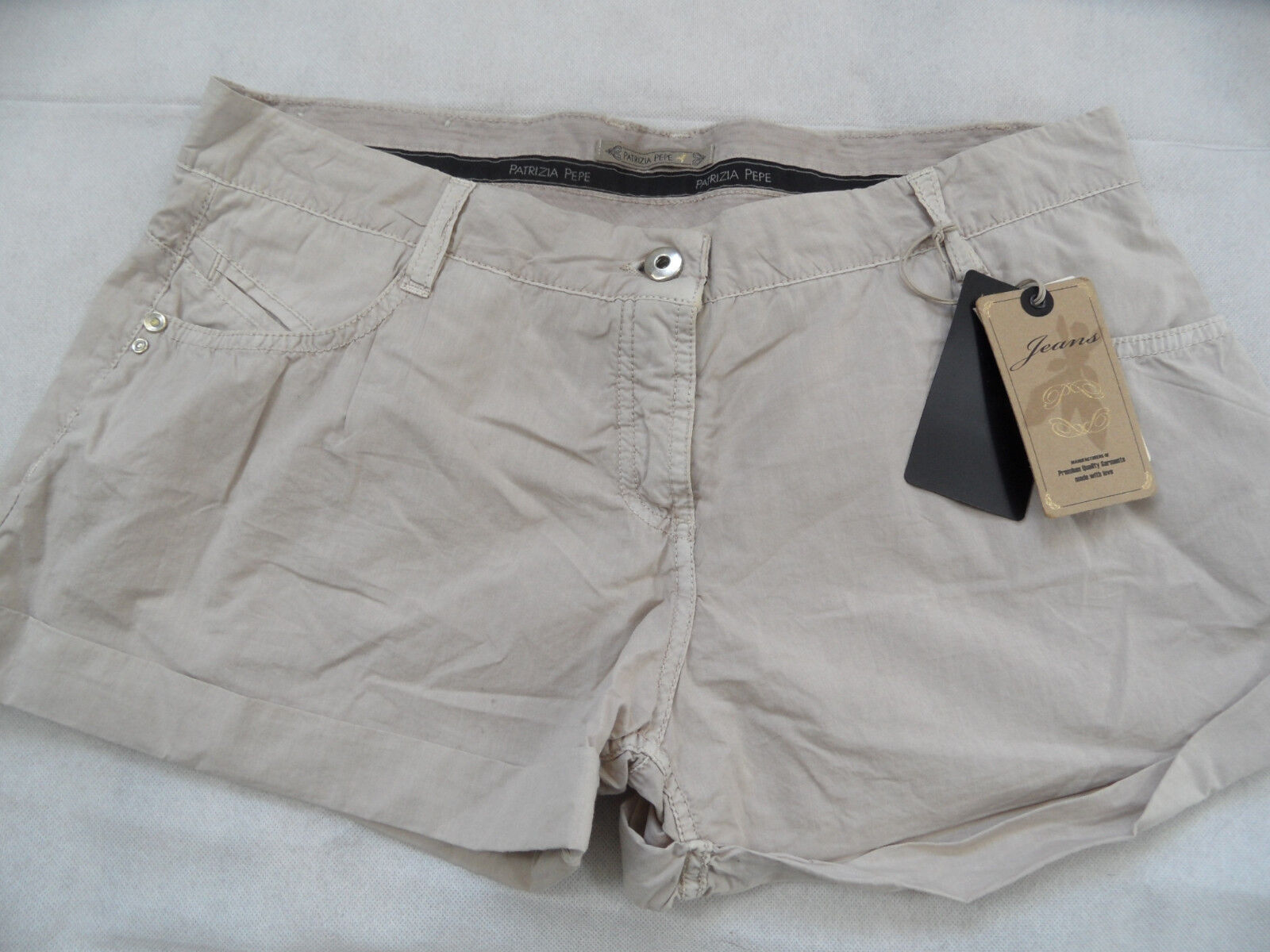 PATRIZIA PEPE schöne leichte Shorts nude Gr. 29 NEU ZC1018