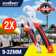 2PC multifunction Universal Quick Snap'N Grip 9-32mm Adjustable Wrench Spanner