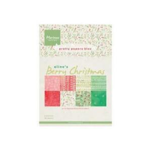 Marianne-Designs-A5-Pretty-Paper-Eline-039-s-Berry-Christmas-32-Sheets-PB7053
