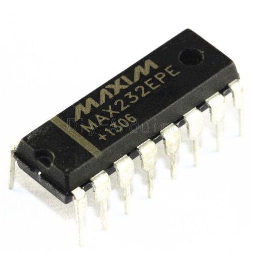 10PCS NEW MAX232EPE MAX232 DIP-16 MAXIM CHIP IC NEU