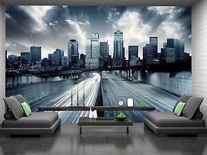 Futuristic Cityscape Wall Mural Photo Wallpaper GIANT DECOR Paper