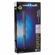 Uni Ball Onyx Roller Ball Stick Dye Based Pen Black Ink Micro Dozen 60040