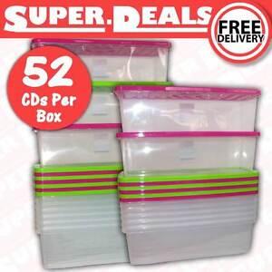 kunststoff cd aufbewahrungsboxen stapelbar 52 kunststoff beh lter mit deckel ebay. Black Bedroom Furniture Sets. Home Design Ideas