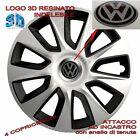 """4 Copricerchi Calotte Borchie Stratos 14"""" Logo resinato 3D per VW Polo new"""