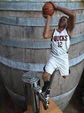Milwaukee Bucks TAP HANDLE Jabari Parker Beer Keg NBA Basketball White Jersey