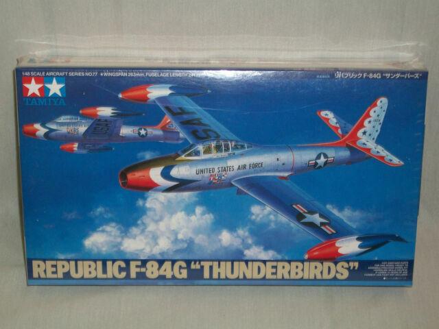 """1//48 Tamiya 61077 Republic F-84G Thunderbirds/"""" Plastic Model Kit"""