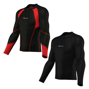 Mens Thermal base layer Compression Top Long sleeve body Armour Cold Wear shirt