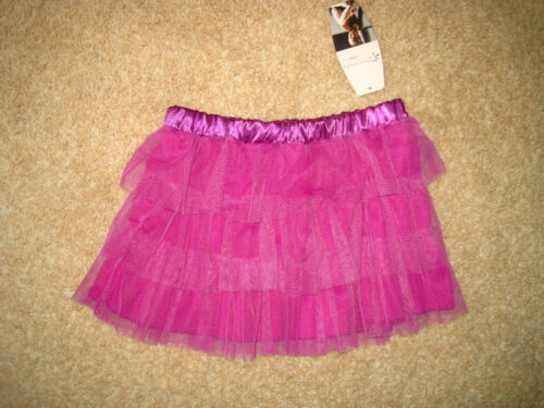 Girl Fuschia Purple 3 tier Dance TULLE MESH TUTU SKIRT NWT 7 8