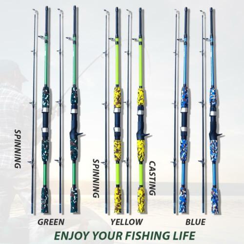 Carbon Fiber Lure Fishing Rod Hand Pole Spinning Casting Ultralight Rod US
