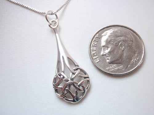 Plus tiges Celtic Knot pendentif argent sterling 925