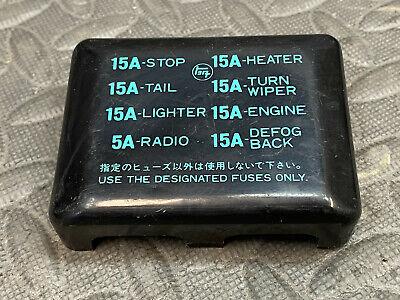 Toyota TE31 Corolla Inside Fuse Box Block Cover Diagram 1976 1977 1978 1979  1980   eBay   1980 Toyota Corolla Fuse Box      eBay