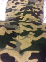 Camo Multi-color Blanket Twin Size Bedding Throw Fleece Flannel Soft Lightweight