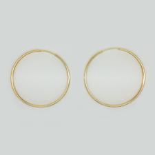 14//20 Gold Filled 2 mm x 35 mm Hoop Earrings