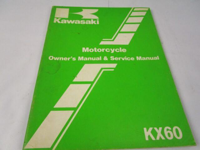 1983 Kawasaki Kx60 Owners Service Repair Manual Book Kx 60