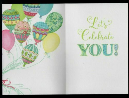 Birthday Greeting Card New Birthday Fancy Balloons Strings Bow