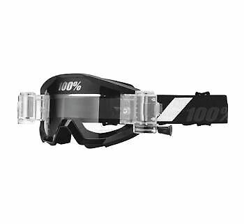 100/% Goggle Mud Strada Goliath SVS w//Clear Lens 50420-166-02