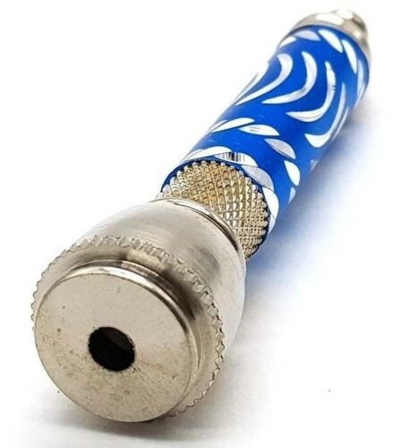 Sneak A Toke Blue Chillum Metal Pipe w// Lid and 3 Screens Portable Smoking